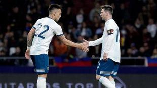 Lautaro y Messi