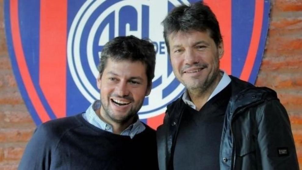 Matías Lammens y Marcelo Tinelli, actuales presidente y vice