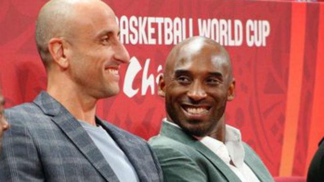 Manu Ginóbili con Kobe.