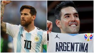 Messi y Scola, dos históricos de las selecciones de fútbol y...
