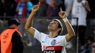 Romero, autor de un gol en la caída ante Colón
