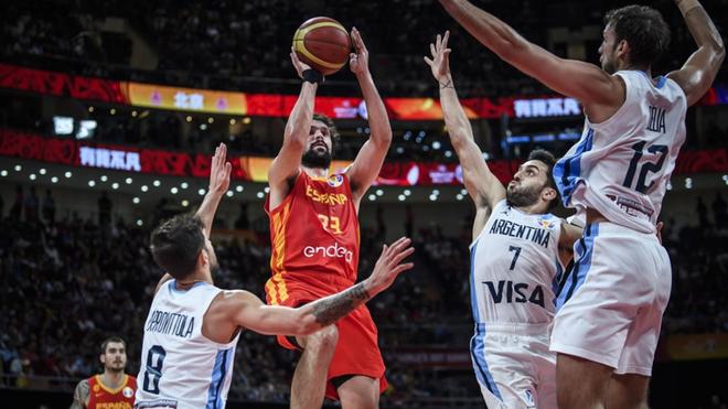 Resultado de imagen para seleccion de basquet españa vs argentina