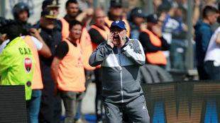 Diego Maradona hizo su debut oficial en Gimnasia