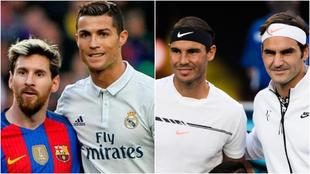 Messi, Ronaldo, Nadal y Federer