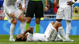 Marcelo debió ser sustituido en el triunfo ante Levante