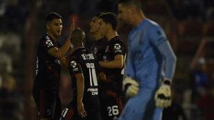 River viene de golear a Huracán en Superliga
