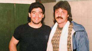 Maradona y Caruso Lombardi, unos años atrás