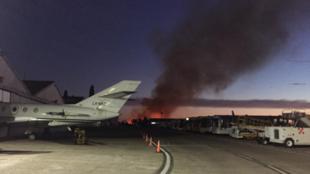 El Palomar: se queman unos pastizales cerca de una cabecera del...