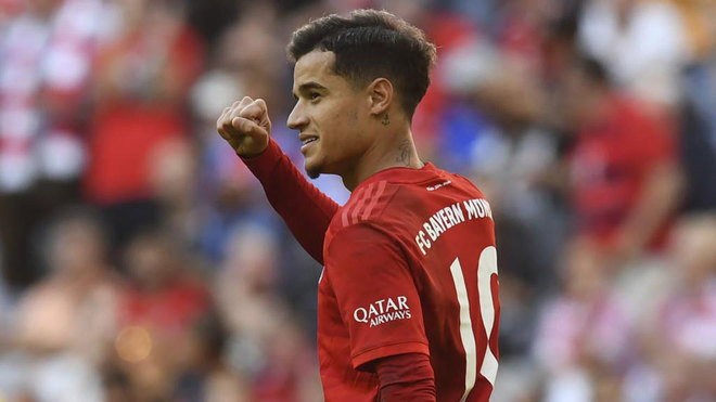 Coutinho celebra su gol al Colonia en Alemania.
