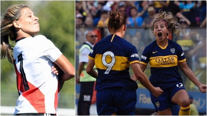 Se juega el primer Superclásico en la era profesional del fútbol femenino