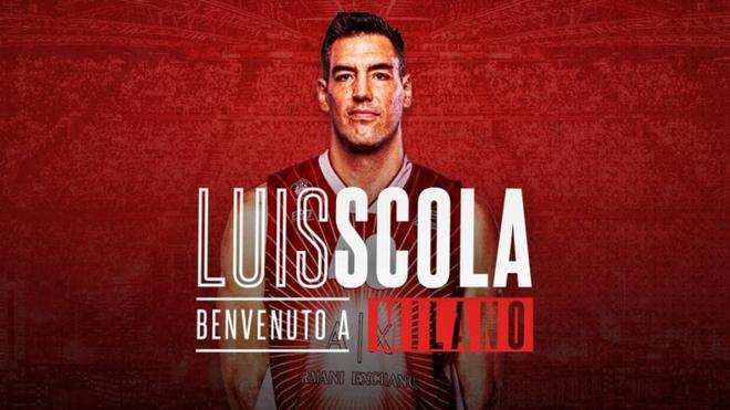Luis Scola llega a Milan para sumarse a su nuevo equipo
