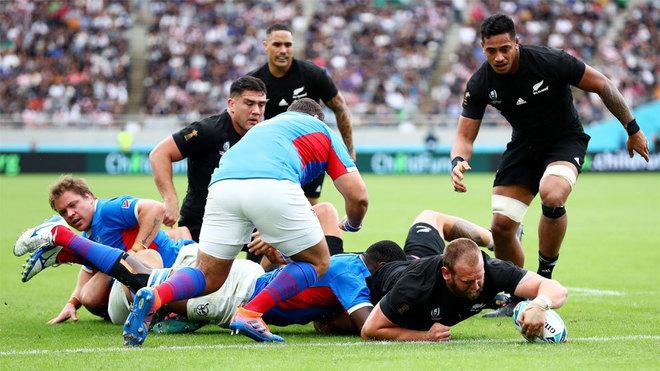 Los 'All Blacks' trituran a Namibia