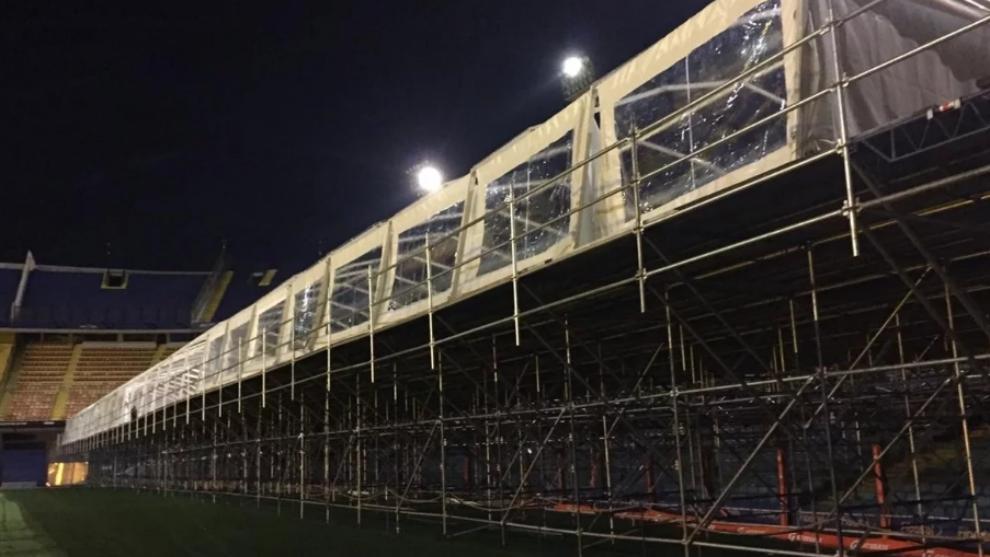 La estructura lleva montándose hace dos días.