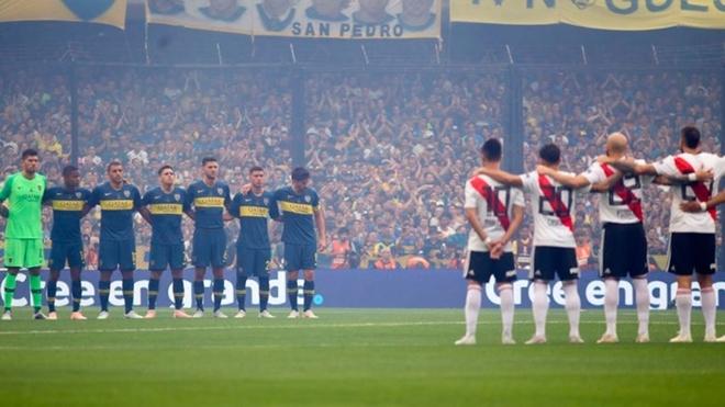Boca y River, en la última final de Copa Libertadores.