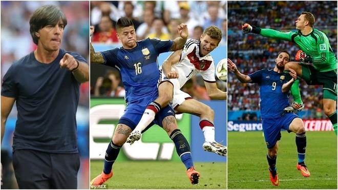 Joachim Löw, Marcos Rojo y Manuel Neuer, algunos de los...