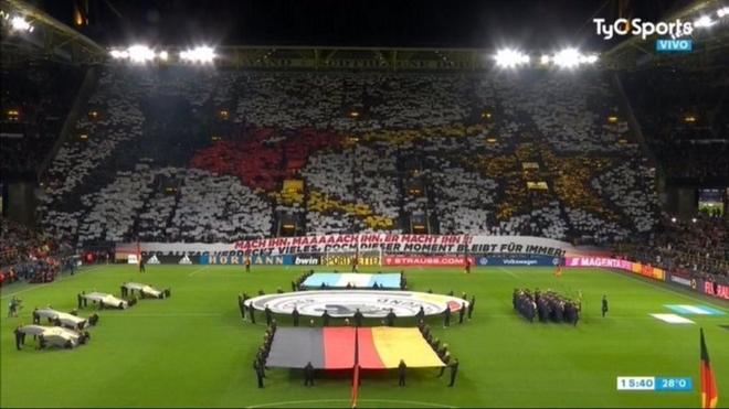 El mosaico en el estadio de Borussia Dortmund.