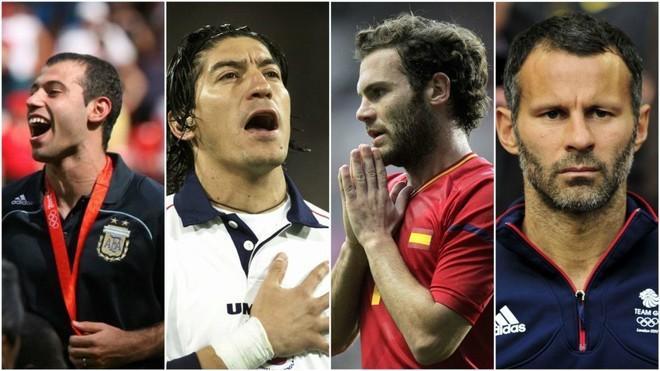 Futbolistas que disputaron unos Juegos Olímpicos con más de 23 años