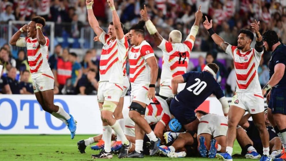 Japón festeja ante Escocia