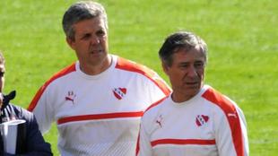 Alejandro Kohan y Ariel Holan en Independiente