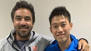 Nishikori rompe con Dante Bottini nueve años después