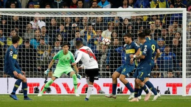 Boca no pudo con River en tiempo extra, en la final de la Libertadores...