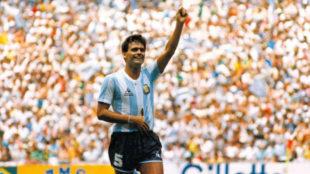 El Tata Brown en la final del Mundial México 86
