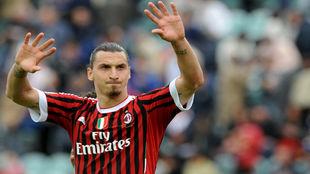 Zlatan Ibrahimovic, en su etapa como jugador del Milan.