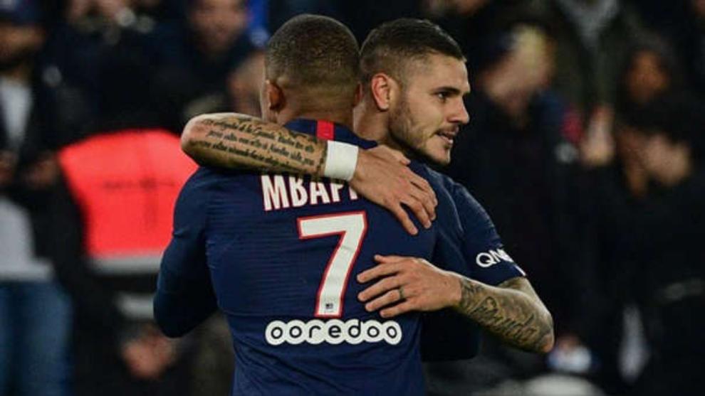 Icardi y Mbappé, dos goles de cada uno para el triunfo del PSG