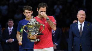 El suizo Roger Federer ganó en Basilea.