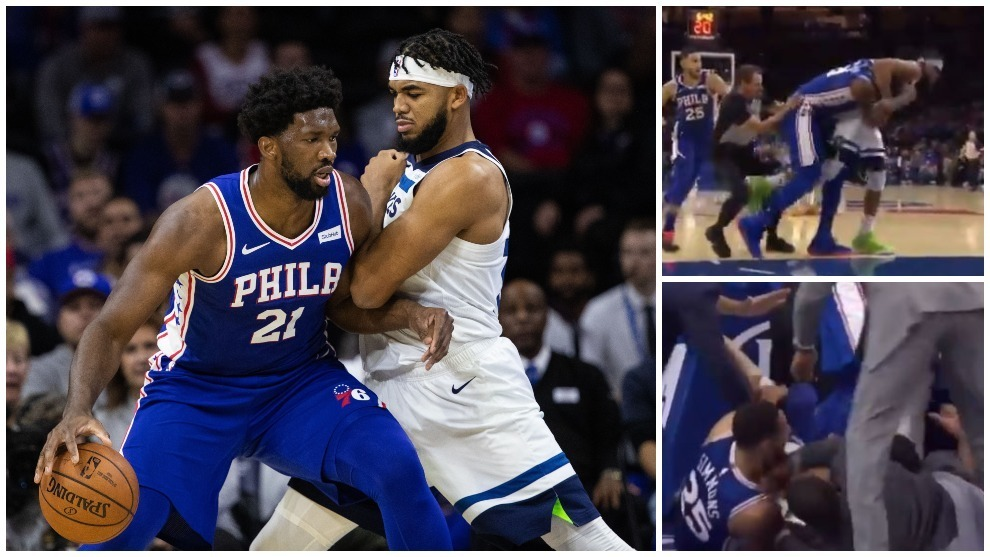 Karl Anthony Towns y Joel Embiid