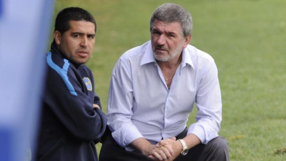 Riquelme y Beraldi, junto en Boca unos años atrás