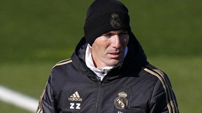 Zidane, durante el entrenamiento.