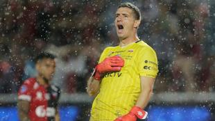 Pinos festeja el título de la Copa Sudamericana