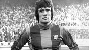 Juan Carlos 'Milonguita' Heredia, con la camiseta del...