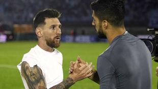 El duelo entre Suárez y Messi, en duda.