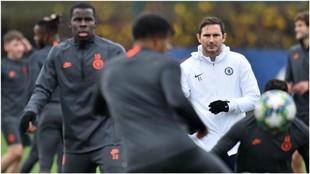 Lampard, durante un entrenamiento con el Chelsea.