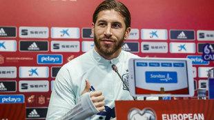 Sergio Ramos en conferencia de prensa