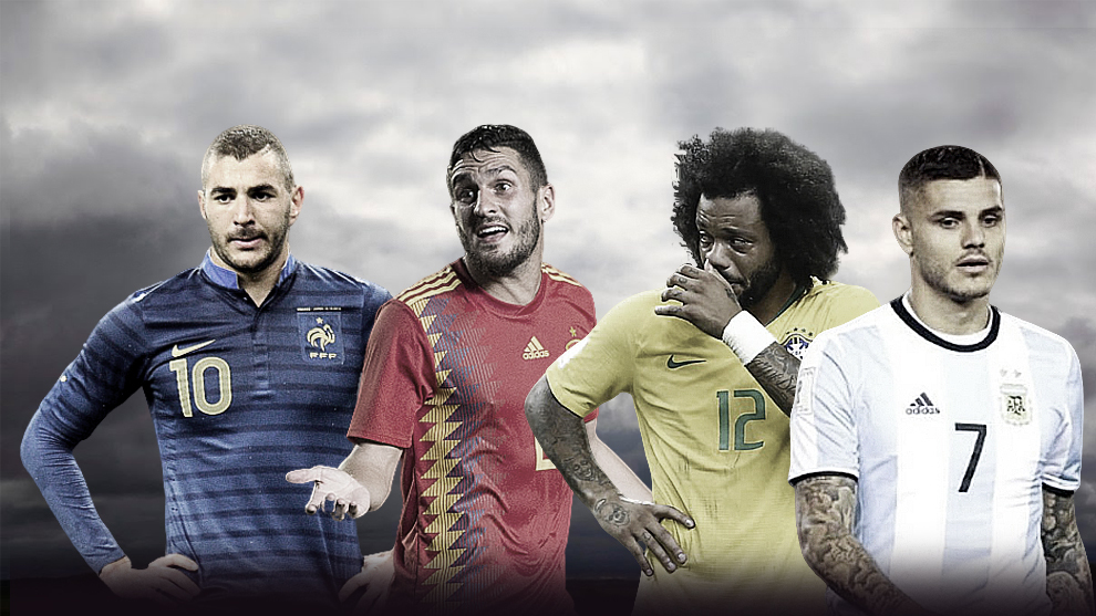 Karim Benzema, Koke Resurrección, Marcelo y Mauro Icardi.
