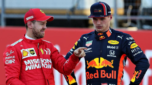 Sebastian Vettel y Max Verstappen