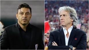 Gallardo vs Jorge Jesus, un duelo de maestros del fútbol de posesión