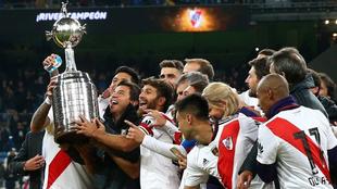River festeja la Copa Libertadores 2018