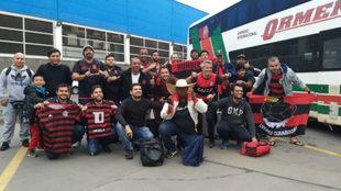 Recorrieron más de 6000 kilómetros para ver River vs. Flamengo.