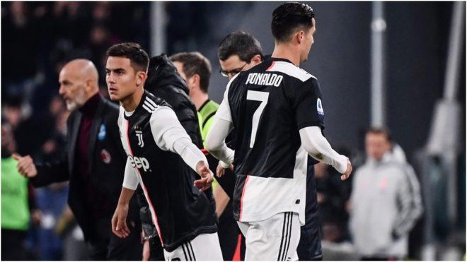 Dybala y Cristiano, en un partido de la Juventus.
