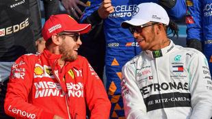 """Vettel: """"¿Hamilton? Creo que ya es piloto de Ferrari..."""""""