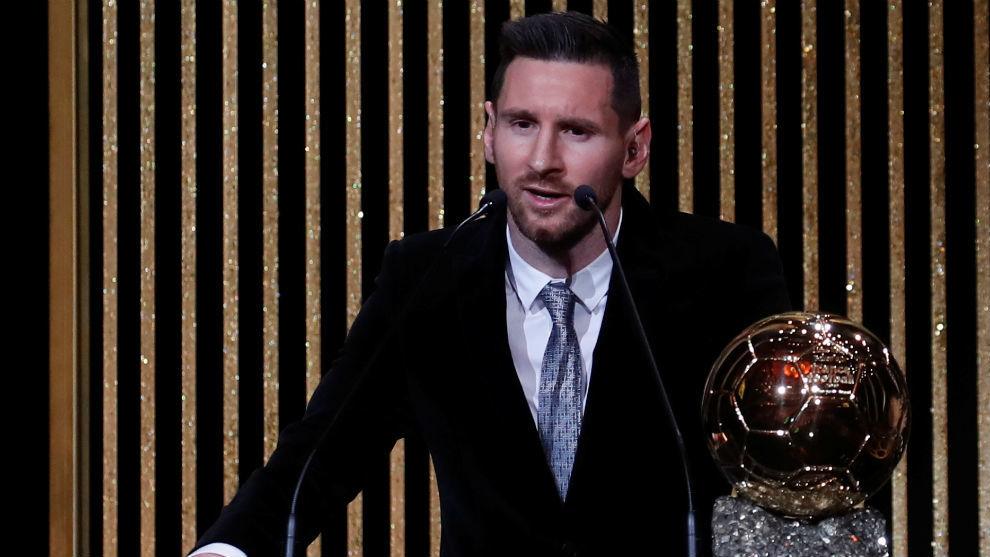 Leo Messi, tras ganar su sexto Balón de Oro.