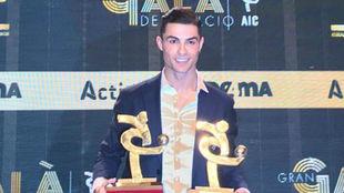 Cristiano Ronaldo el premio a mejor jugador de la Serie A 2018/19.