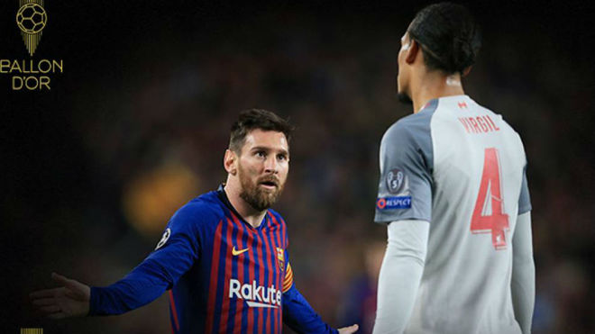 Leo Messi y Van Dijk.