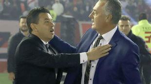 Marcelo Gallardo y Gustavo Alfaro.