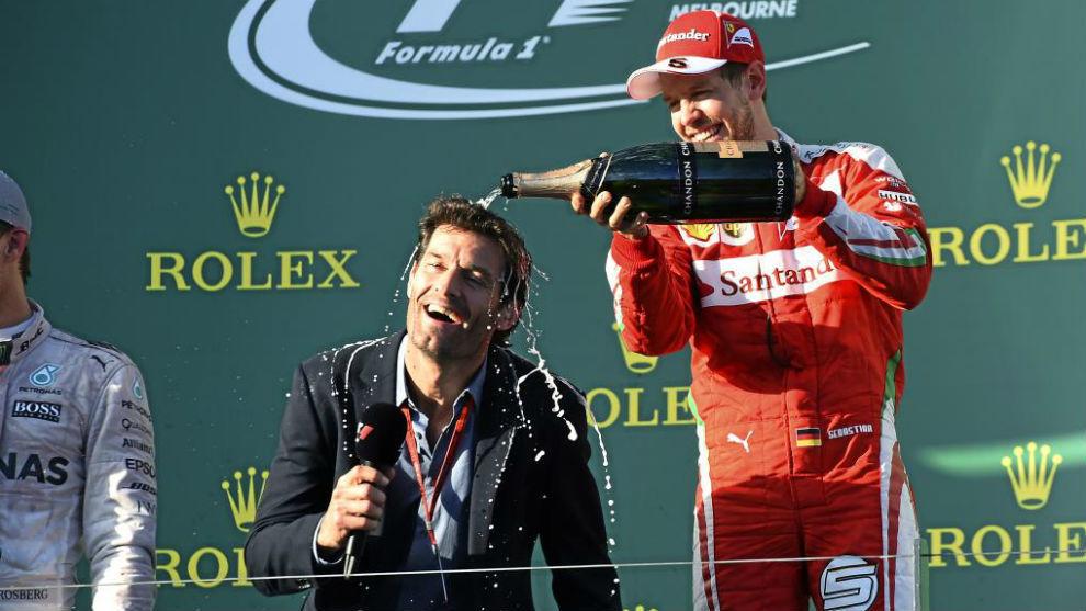 Vettel y Webber, en el podio de Australia 2016 | RV Racing Press