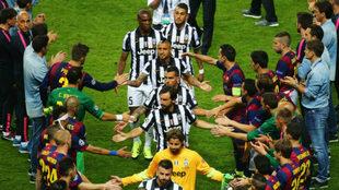 Juventus y Barcelona en la final de Champions 2015.